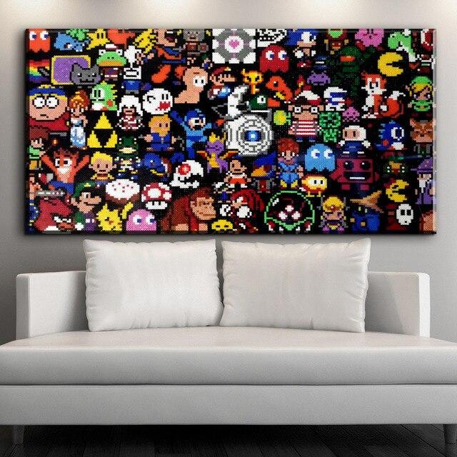 ZZ618 moderne canvas art perler kraal pixel art abstract