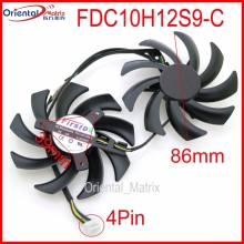 Free Shipping 2pcs/lot FDC10H12S9-C 86mm 0.35A 4Pin For GEFORCE GTX1080 GTX1070 GTX1060 Graphics Card Cooling Fan