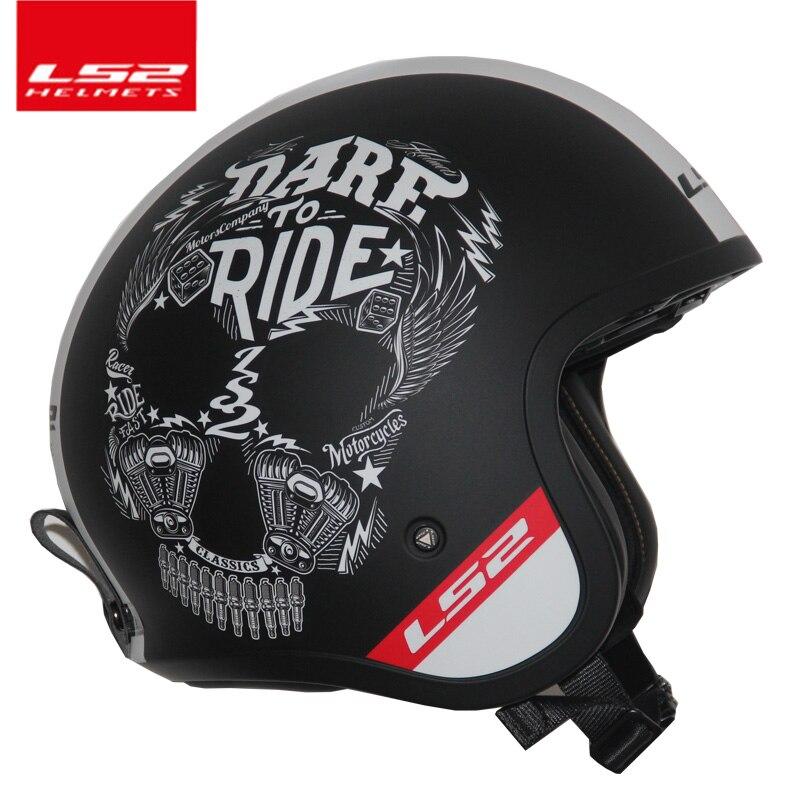 LS2 Глобальный магазин LS2 of599 Винтаж Moto rcycle шлем Модные мужские и женские Дизайн Ретро шлем LS2 Capacete шлем Moto без насос