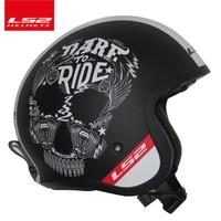 LS2 Global Store LS2 OF599 Vintage Motorcycle helmet Fashion men women design retro helmet LS2 capacete casque moto without pump