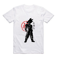 Cartoon Ball Dragon Z One Punch-Man Kaneki Ken/Goku/Saitama/Trunks/Buu Mens Modal T-Shirt Casual Top