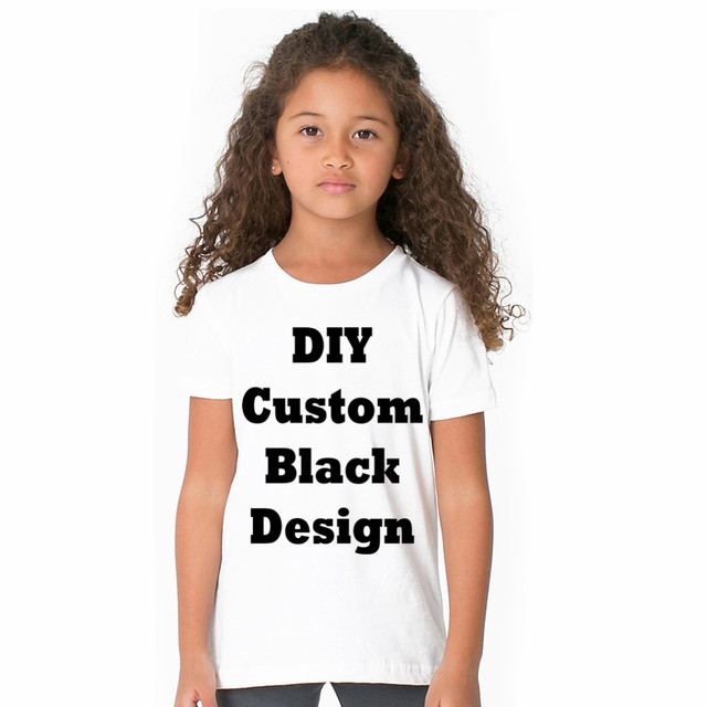 LYTLM Quality Combed cotton Customized T Shirts for Boys T-shirts for Girls  Black Image