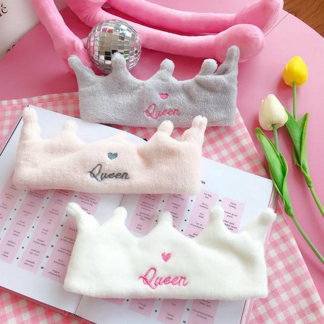 Girl Heart Wash Headband Cute Crown Shape Headband Hairband Mask Utilities to wash face