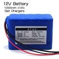 Большая емкость 12 В 10ah 18650 литиевая батарея охраны доска 12 В 10000 мощности + 12 В 3A зарядное Устройство