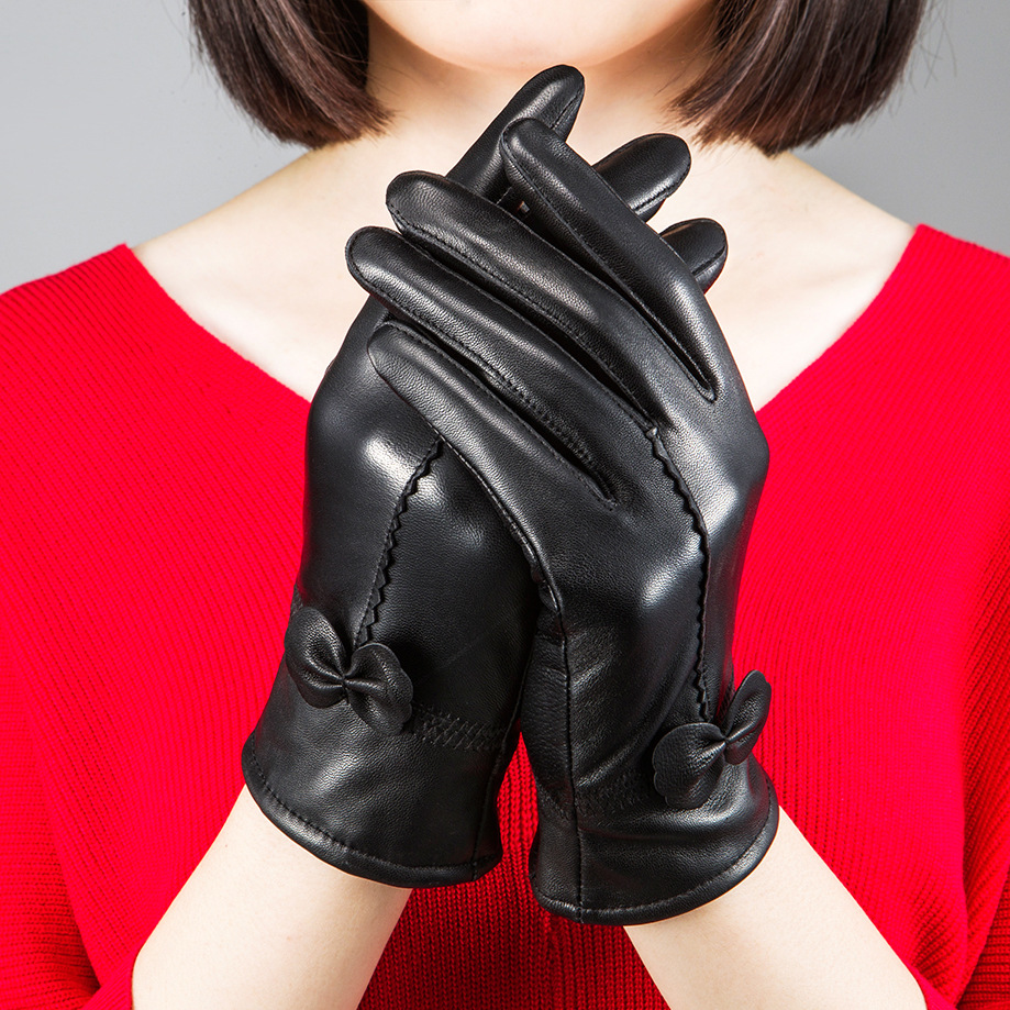 High quality womens leather gloves - High Quality Women S Fashion Winter Gloves For Ladies More Warm Add Wool Gloves Female Cape