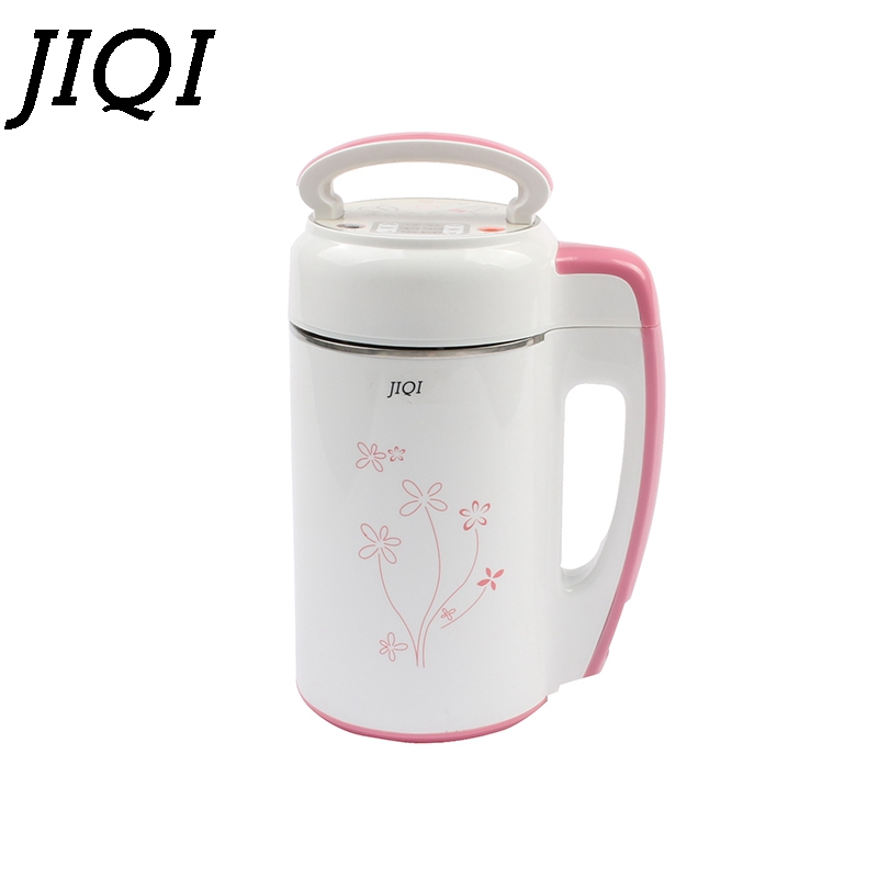 JIQI mini Soybean Milk machine 0.6 0.8L soy milk grinder soybeans milk maker Stainless Steel Milk shake juicer baby food blender-in Juicers from Home Appliances    1