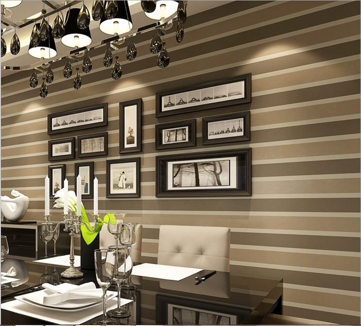ФОТО Seamless non-woven wallpaper Pure pigment color stripe wall sticker decoration The sitting room the bedroom with TV setting wall