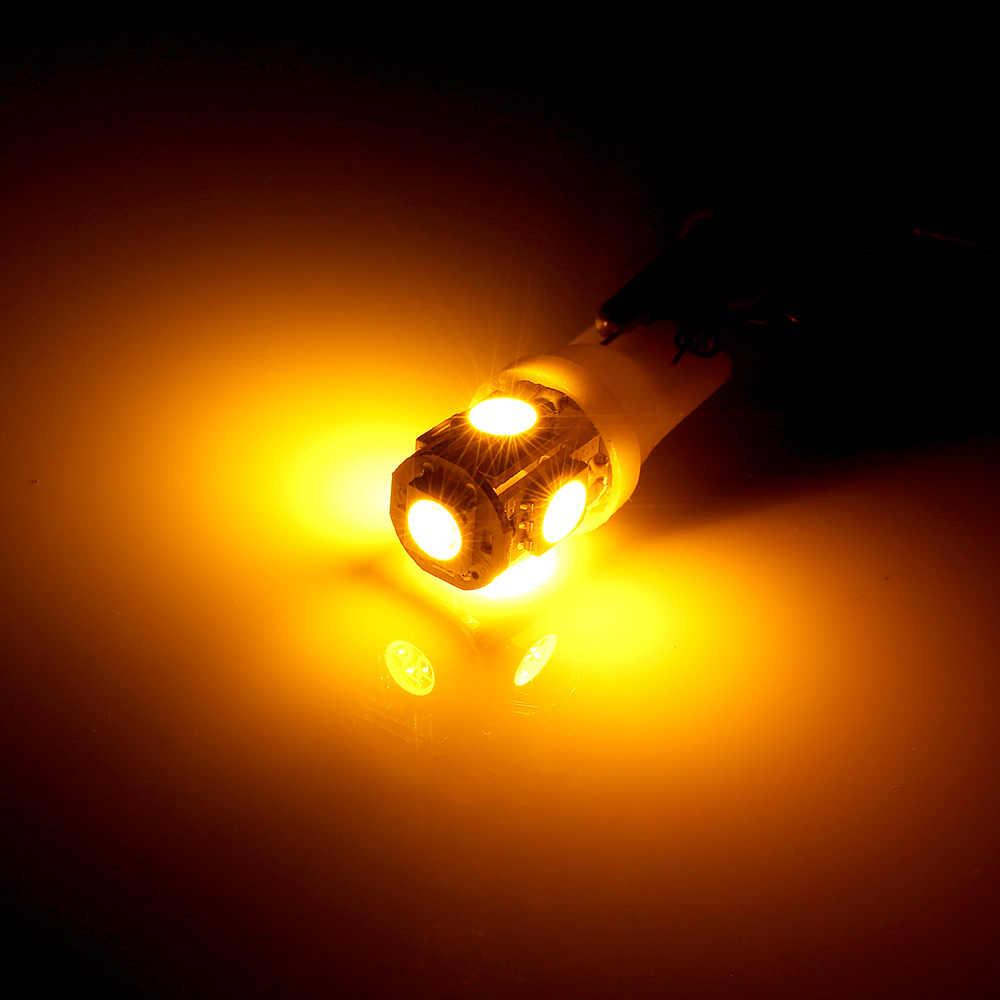1 ชิ้นสัญญาณ T10 LED W5W 194 168 หลอดไฟสำหรับรถยนต์สีแดงสีฟ้าสีเขียวสีเหลืองสีเขียว Clearance สำรองย้อนกลับ 12V