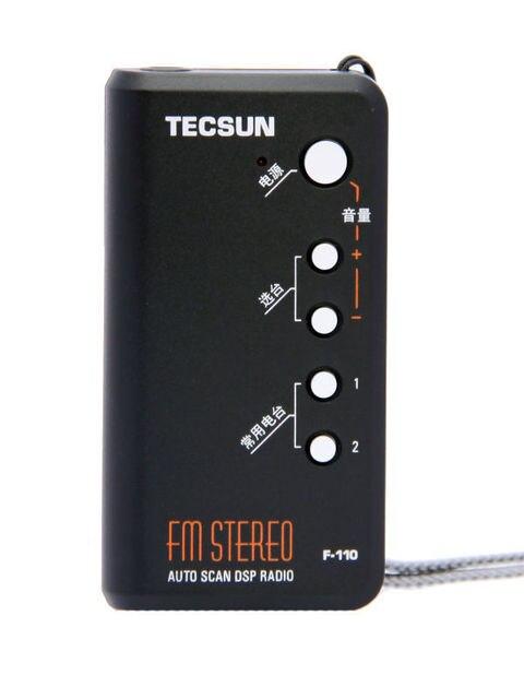 Первоначально подлинное новый Tecsun F110 FM стерео автоматического сканирования DSP карманный Mni радио F-110 Campu радио с наушником