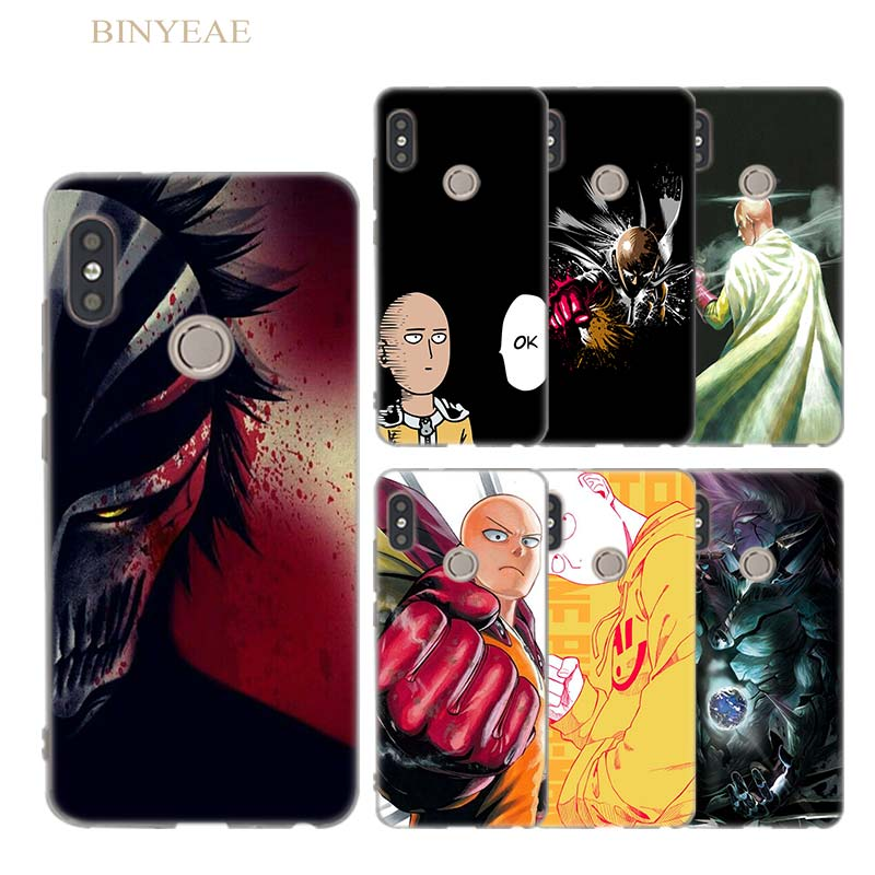 BINYEAE Anime Bleach One Punch Man Silicone Soft cover case for Xiaomi Mi A1 6X 8 8SE Redmi S2 4X 5 5Plus Note 5APro 5 4 4X