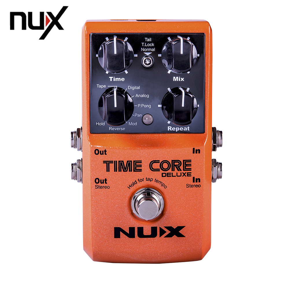 NUX Time Core Deluxe 8 Delay Effect 40 Seconds Looper Electric Guitar Effect Pedal True Bypass Upgrade Mode hand made loop electric guitar effect pedal looper true bypass 3 looper switcher guitar pedal hr 1