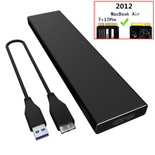 цены на External Hard Drive Case For 2012 MacBook Air SSD USB 3.0 to A1465 A1466 SSD Adapter Enclosure For MD223 MD224 MD231 M232  в интернет-магазинах
