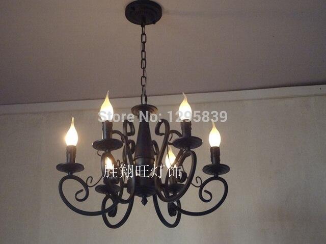 pastorale speciale verlichting meerdere kroonluchter ijzer kaars restaurant amerikaanse lampen slaapkamer lampen verlichting
