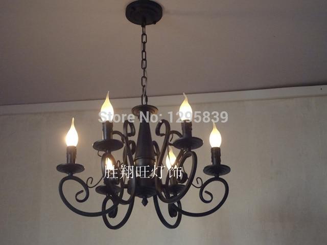 Kronleuchter Eisen Für Kerzen ~ Pastoralen spezielle beleuchtung mehrere kronleuchter eisen kerze