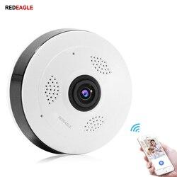 REDEAGLE 360 stopni kamera panoramiczna 960P 1080P bezprzewodowy Wifi VR bezpieczeństwa CCTV kamery monitorujące niania elektroniczna Baby Monitor