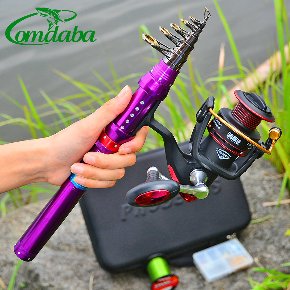 New Comdaba 1.8M-2.7M 1PC High Carbon Telescopic Fishing Rod 9/10/11 Section Metal Handle Sea Fishing Rod With Strong Bag Set(China)