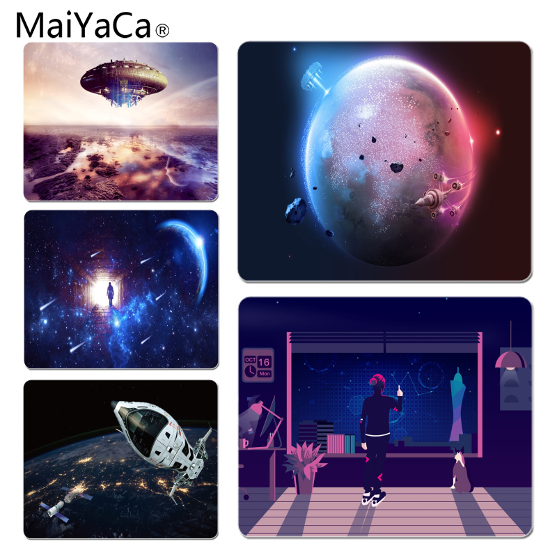 MaiYaCa The future of extraterrestrial life gamer play mats Mousepad Size for 18x22x0.2cm Gaming Mousepads ...