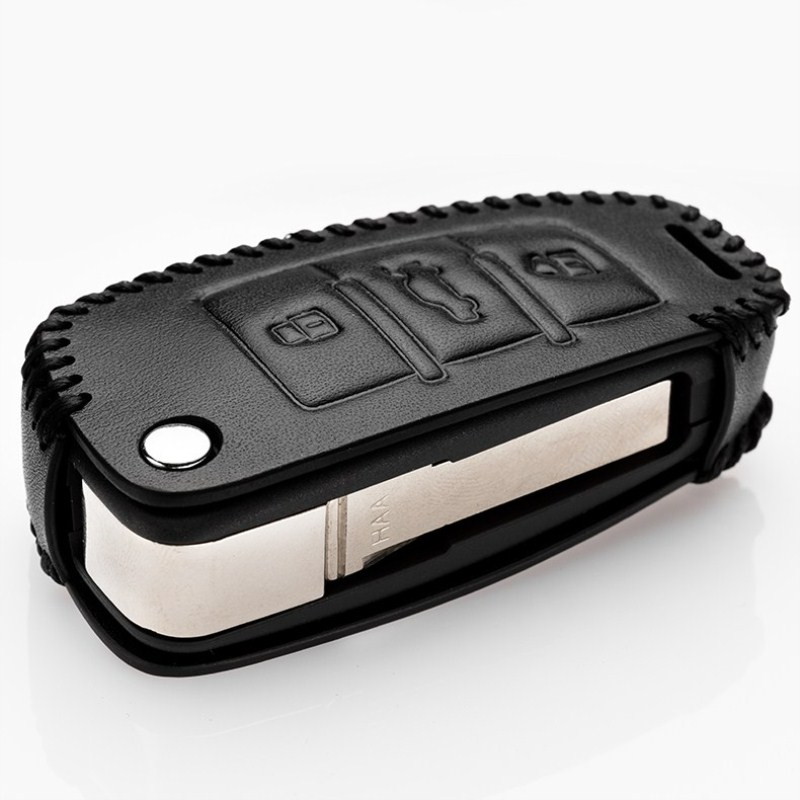 Car Genuine Leather Key Case For Audi A4 A6 Q3 A3 Q5 Q7 R8