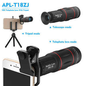 Image 2 - APEXEL HD אופטי אוניברסלי 18x25 המשקפת למצלמות עדשת 18X טלה טלפון עדשה עם חצובה עבור Smartphone xiaomi Redmi