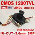 """Большая Распродажа! HD Цвет 1/4 """"CMOS FH8510 + BY3006 Аналоговый 1200TVL 960 P CBVS Закончил Монитор модуль чип 3.6 мм 3.0mp объектив ик-кабель"""