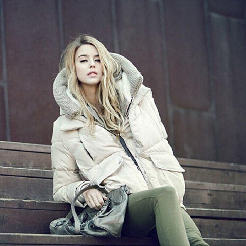 ФОТО 2016 Hot Sale Women Casual Slim Short Down Coat Jacket With Fur Parka Winter Jacket Thicken Down Outwear