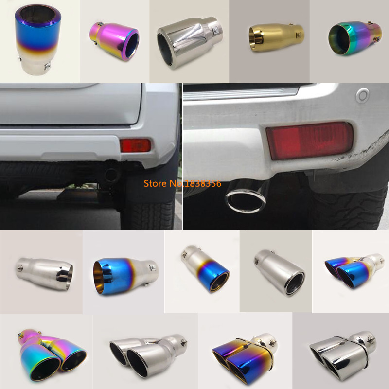 For Toyota Prado FJ150 20017 2018 car stainless steel muffler exterior end tail pipe outlet dedicate exhaust tip tail frame 1pcs