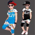 2017 New Summer Chldren Set O-Neck T Shirt +Shorts  Set Sports Kids Clothes Boys Clothes Set Hot Sale For3-7T
