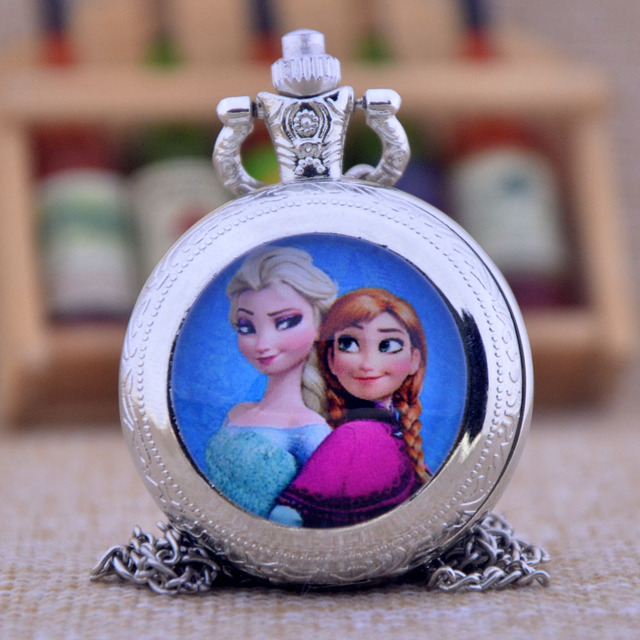 New Fashion The Snow Queen Lovely Sisters Gemstone Pendant Glass Dome Design Qua