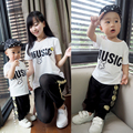 Family fashion summer cotton short-sleeve 100% T-shirt 2016 spring and the tendrils mother and son summer family set