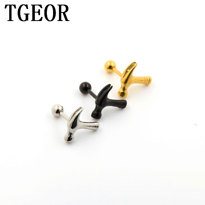 fd43a4af4 free shipping Hot 30pcs 1.2*6*4/(2*3*4)mm surgical Stainless Steel 3 crystals  titanium plated colors ear tragus piercing earring