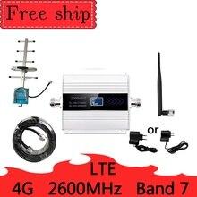 4G 2600mhz LTE Cellular Signal Booster 4G Mobile Netzwerk Booster Daten Cellular Phone Repeater Verstärker Band 7 yagi Antenne