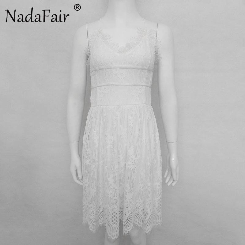 HTB1b7Uga0.LL1JjSZFEq6AVmXXaJ - FREE SHIPPING Party Dress Sleeveless Lace-up Backless V Neck White Black 142