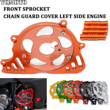 цена на For Kawasaki Z1000 Z 1000 z1000 2017 -2010 Front Chain Sprocket Chain Guard Cover Left Side Engine Accessories Parts Motorcycle