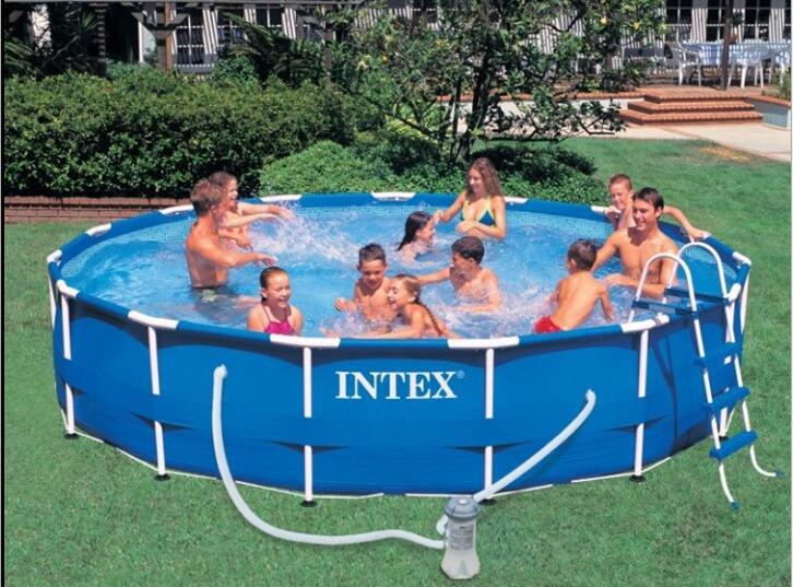 все цены на 2016 new INTEX 28232 (54942) 15 'metal frame pool sets Adult Swimming Pool multiplayer 457*84cm онлайн