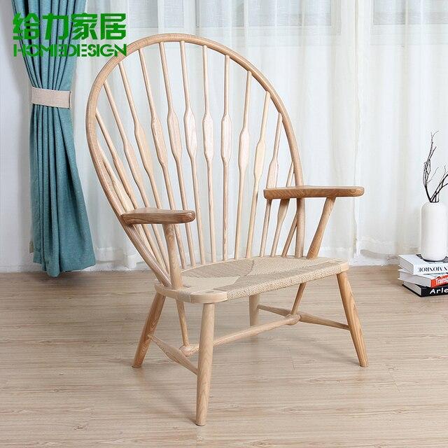 Ikea houten fauteuil vrije stoel europese mode designer for Ikea houten stoel