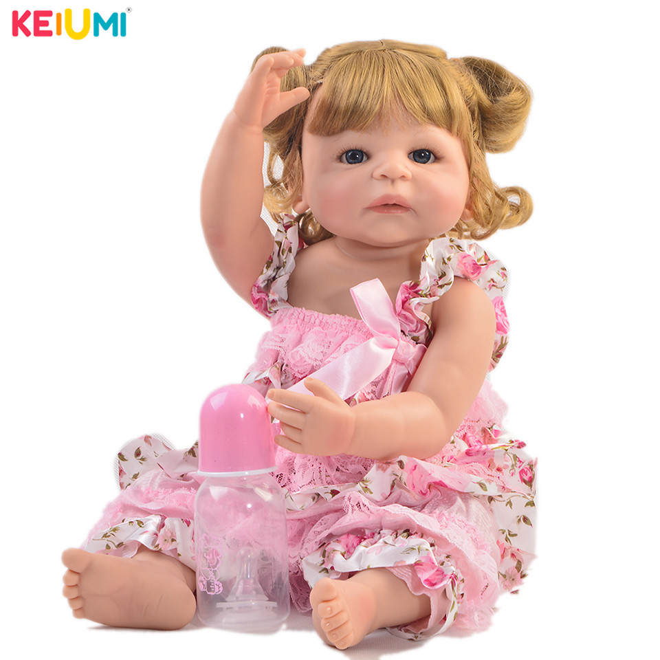 Exclusive 22 55 cm Reborn Baby Girl Full Silicone Body Reborn Dolls Realistic Kids Playmates Baby Toys Girl Birthday GiftsExclusive 22 55 cm Reborn Baby Girl Full Silicone Body Reborn Dolls Realistic Kids Playmates Baby Toys Girl Birthday Gifts