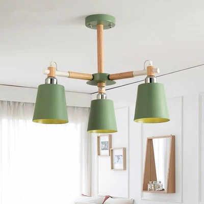 Bois massif salon lustre éclairage moderne chambre Restaurant LED lustres plafonnier ménage LED lustre lampe