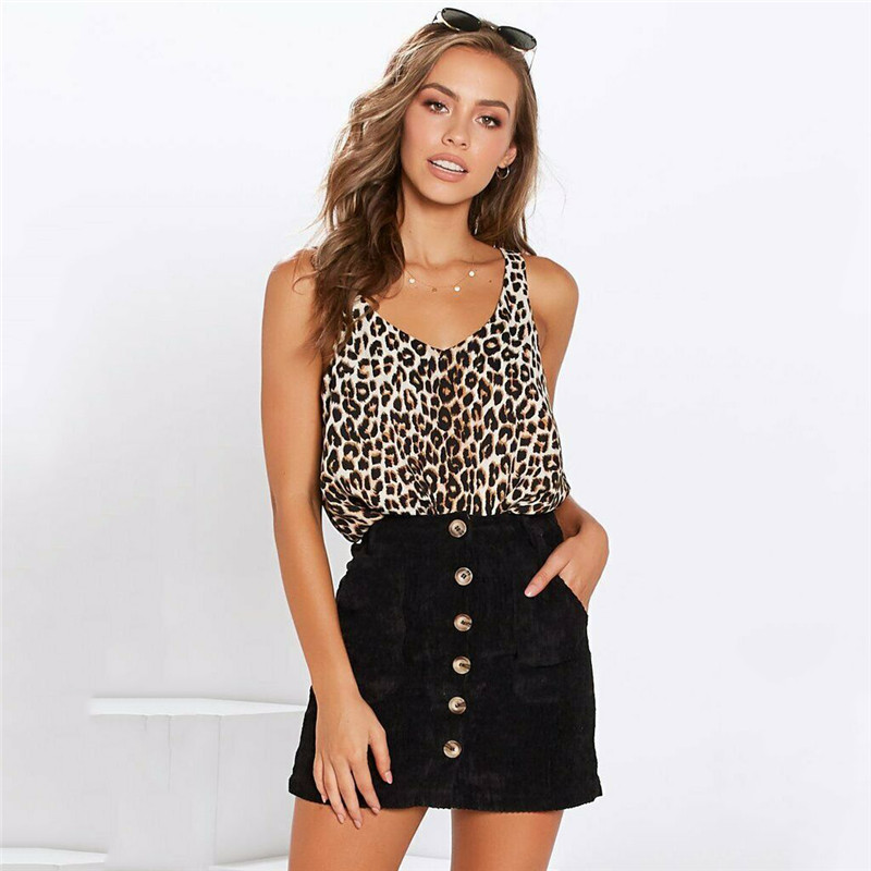 Sexy   Tank     Top   In Ladies Camis   Top   Female Womens Leopard Printing Casual Basic Strappy Vest Camisole Plus Size Loose   Tops