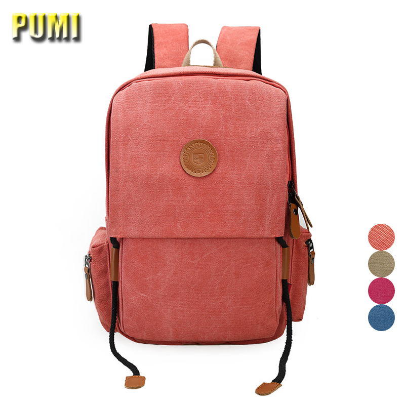 Women Canvas Backpack Student School Bag for Adolescent Girls Lady's Casual Shoulder Bags 2018 Korean Preppy Style Trip Rucksack