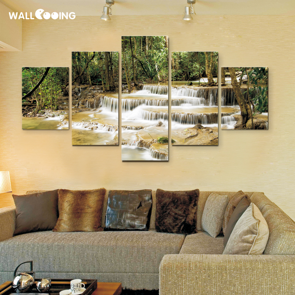 Duvar cooing tekel Tuval Boyama Dekoratif boyama tropikal yağmur - Ev Dekoru - Fotoğraf 3