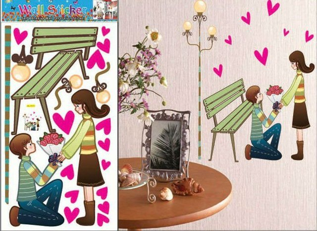 Hl1511 Wall Stickers New Year Present House Decor Products Wedding