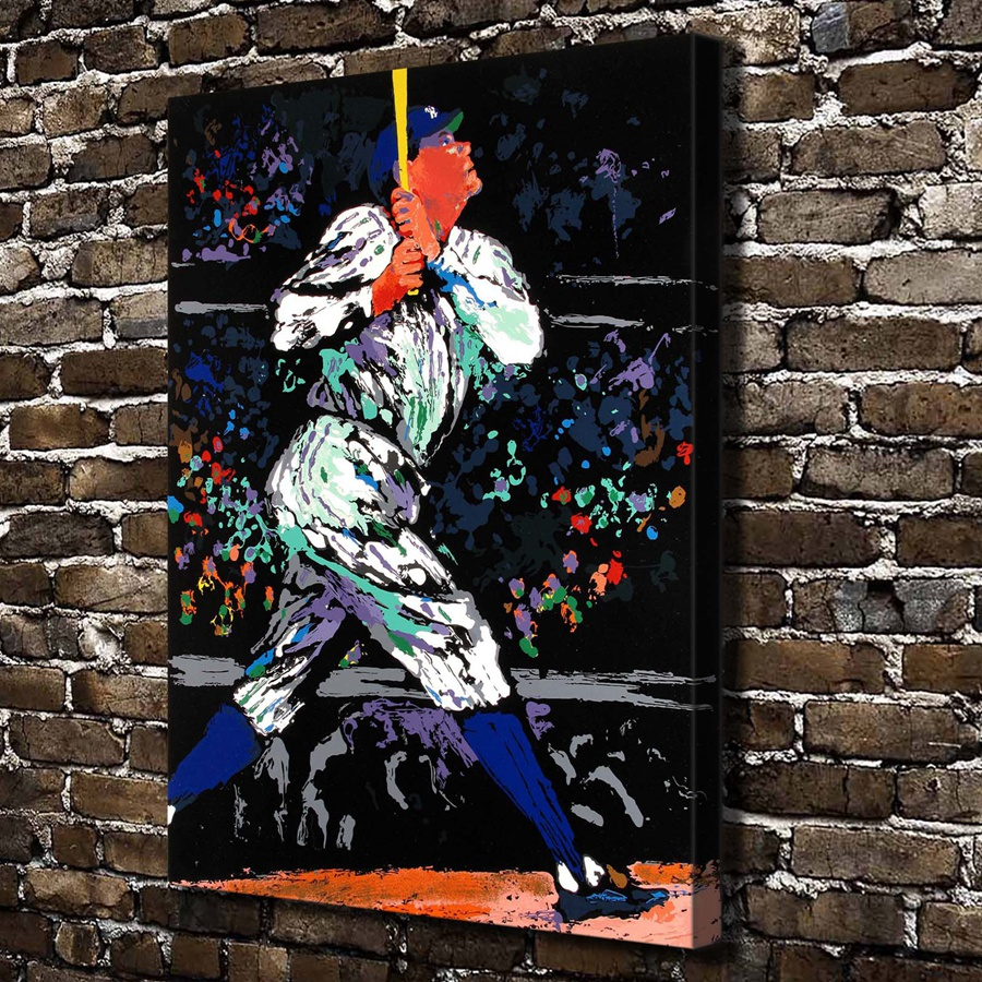 A1910 Leroy Neiman Abstract Baseball Players Hd Canvas