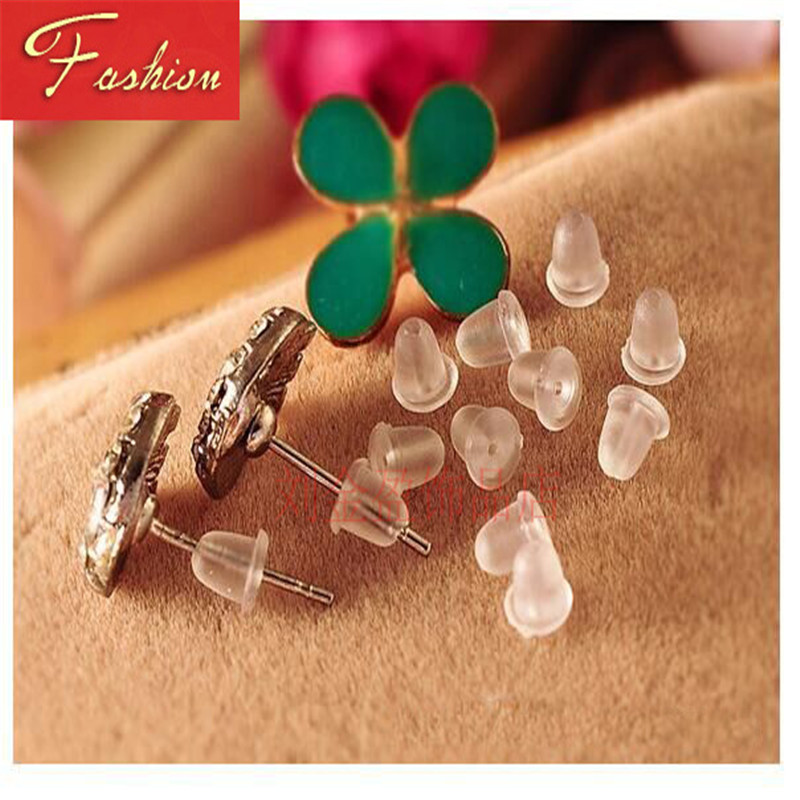FUNIQUE 2pcs Earrings Jewelry Accessories Silicone Barrel Plastic Ear Plugging Earring Back High Quality Dropshipping