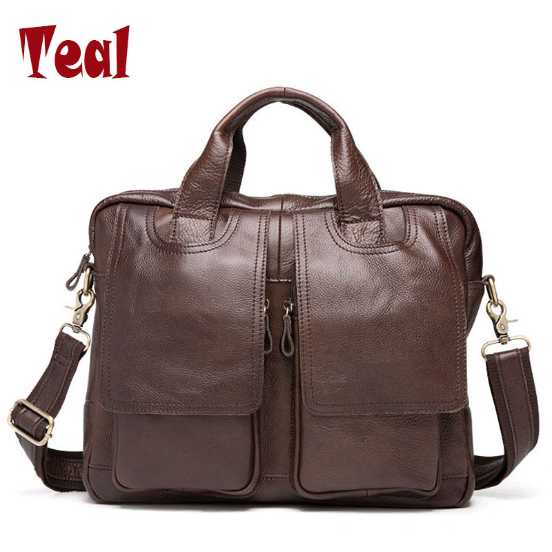 Men genuine leather bag Business Tote Briefcases messenger Bag Horse Leather famous brands high quality large Multifunction new p kuone famous brands briefcases men luxury genuine cow leather 13 inch laptop bag high quality handbags business travel bag
