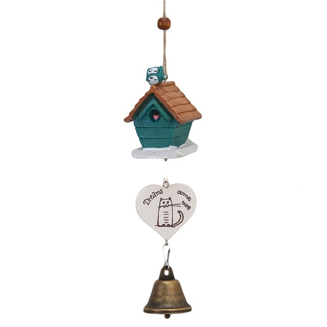 New Creative Random Chic Handmade Bird House Landscape Outdoor Decor Wind  Chime Bell Decoration Accessories
