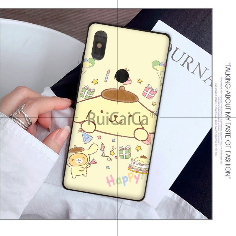 Ruicaica Sanrio pompompurin cartoon girl Coque Phone Case for Xiaomi Mi 6 Note3 8 8SE Redmi 5 5Plus Note4 4X Note5 Cellphones in Half wrapped Cases from Cellphones Telecommunications