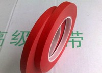 45mm 33M 0 22mm Single Face Adhesive Red Crepe Paper Mix PET High Temperature Withstand Shielding