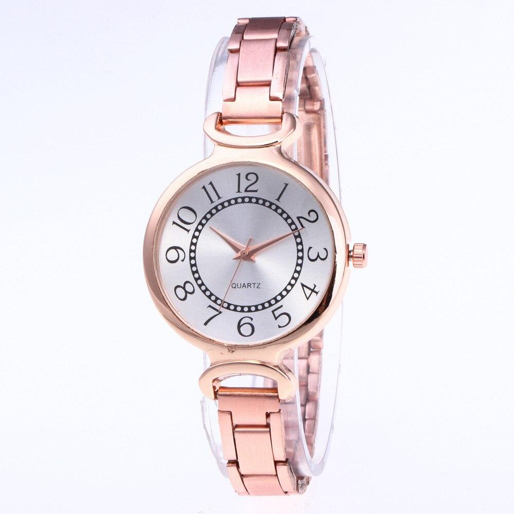 Top Brand Fashion Women's Stainless Steel Bracelet Watch Crystal Exquisite Small Wrist Watch Quartz Wrist Watch Gift Clock  #B