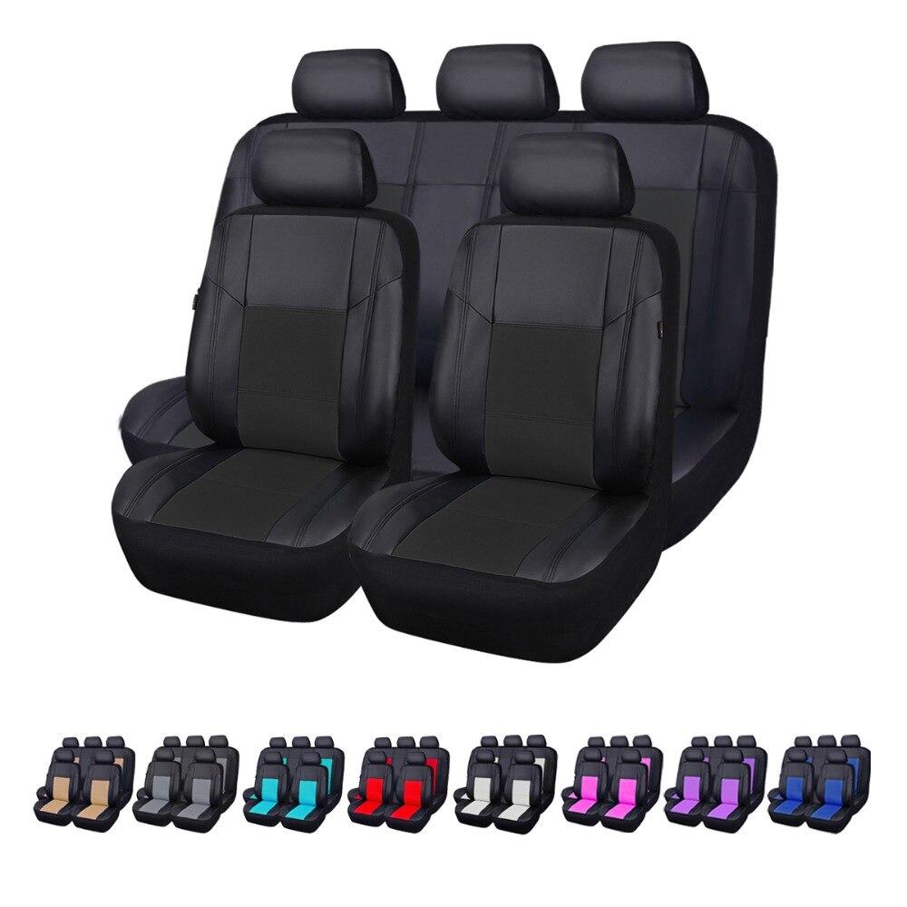 Car-pass Роскошные из искусственной кожи водонепроницаемые Авто универсальные чехлы сидений автомобиля автомобильные чехлы Интерьер Аксессу... ...