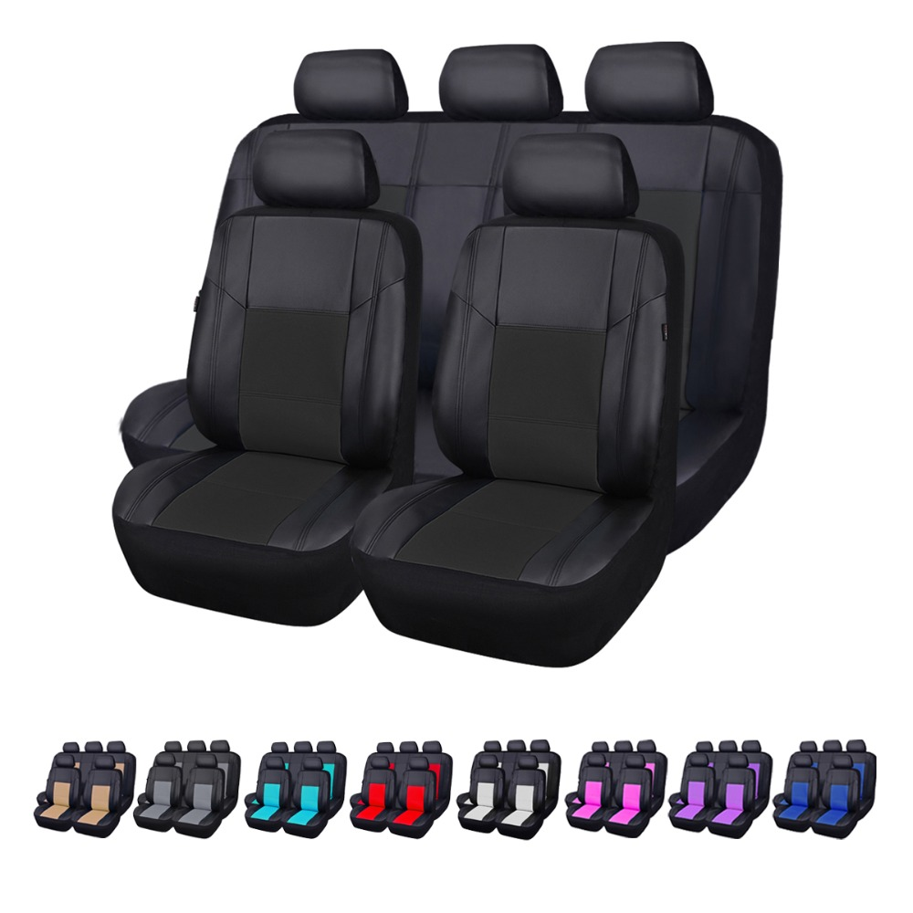 Car pass Luxury PU Leather Water Proof Auto Universal Car Seat Covers Automotive Seat Covers Interior Accessories for lada ford